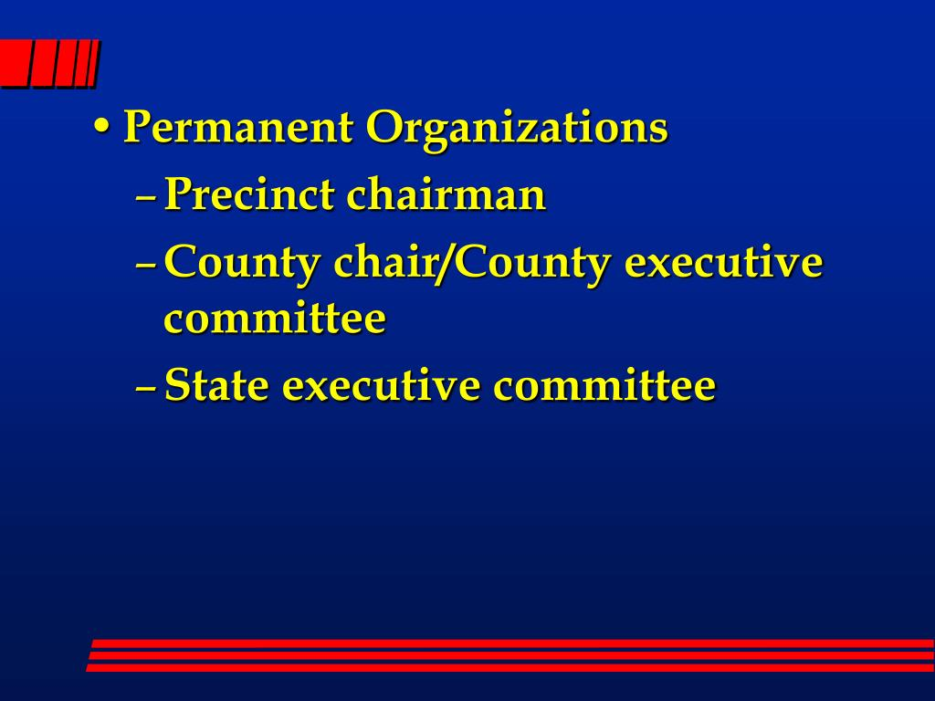 Permanent Organizations