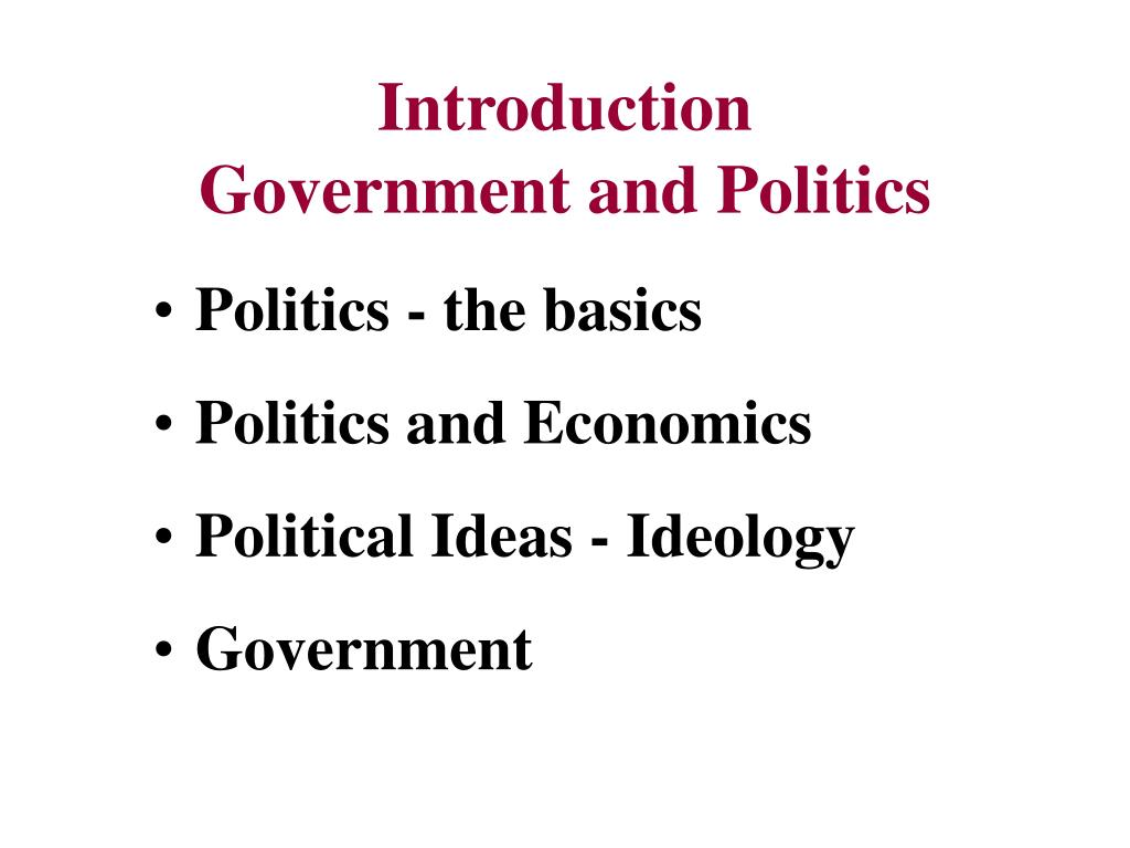 introduction government and politics l.