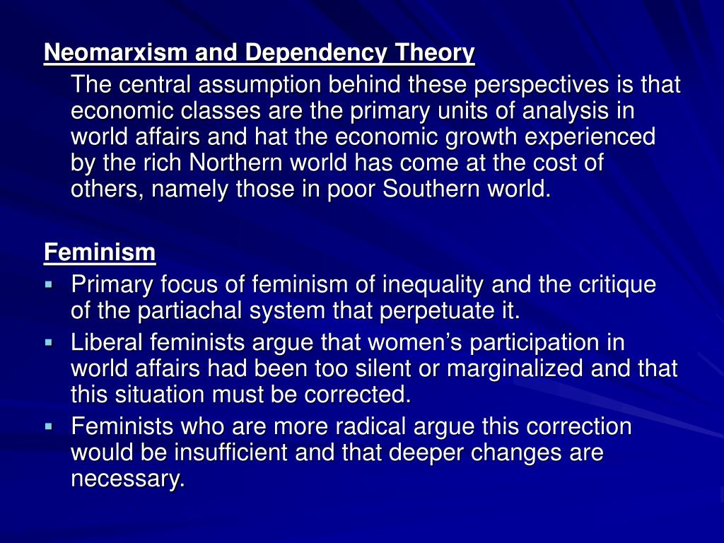 Neomarxism and Dependency Theory
