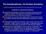 the interdisciplinary yet divided discipline