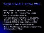 world war ii total war