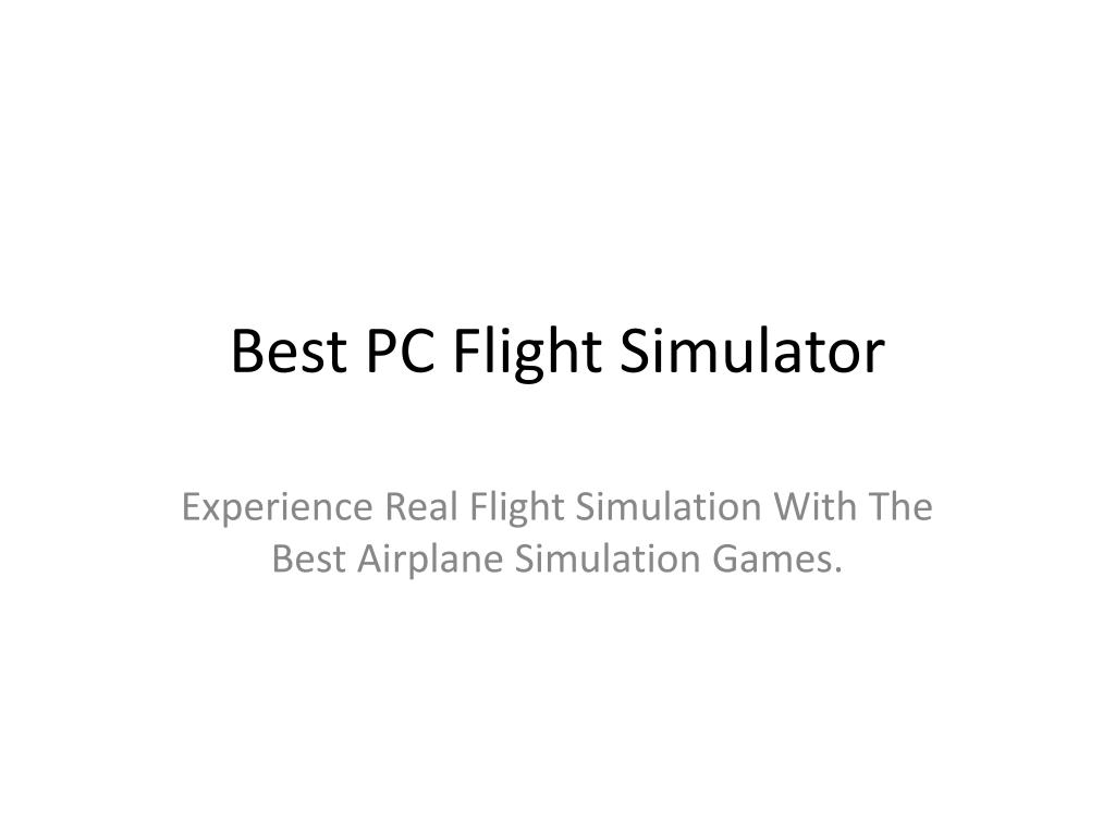best pc flight simulator l.