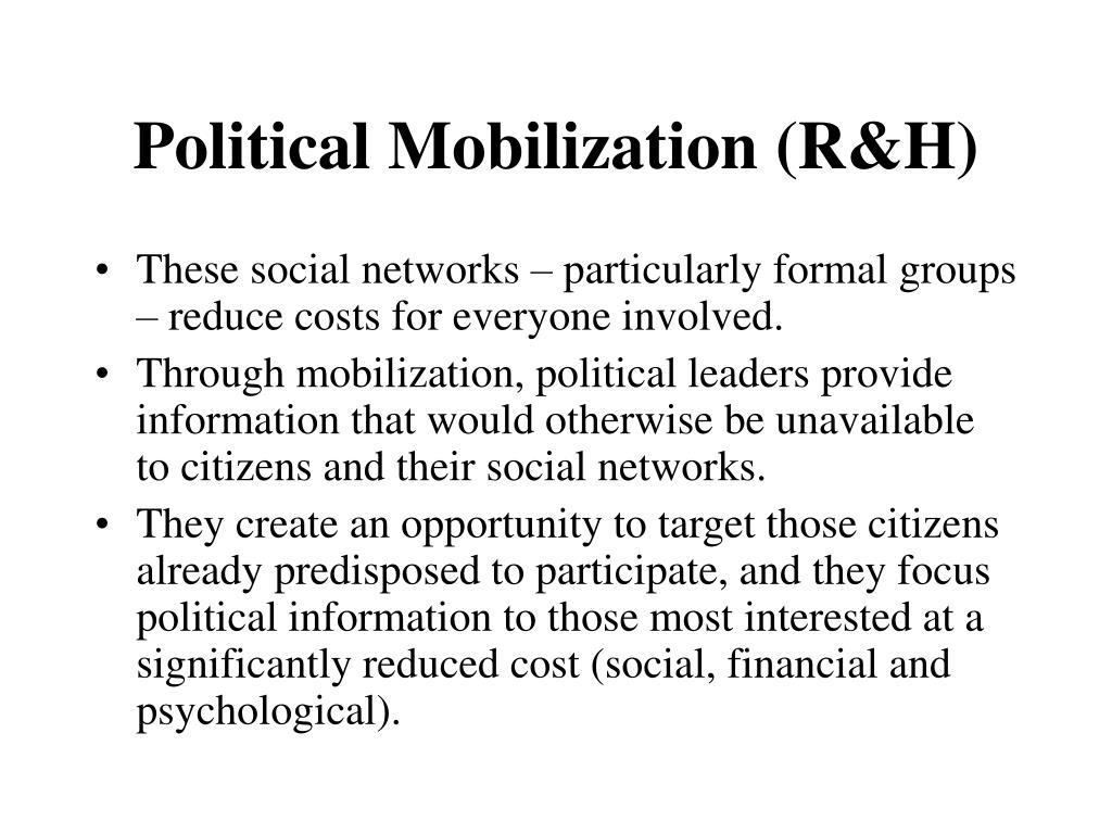Political Mobilization (R&H)