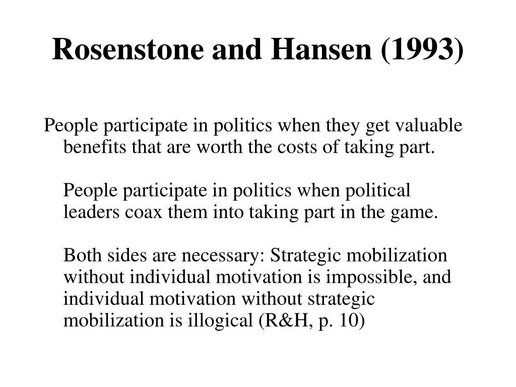Rosenstone and Hansen (1993)