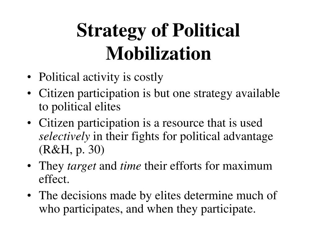 Strategy of Political Mobilization