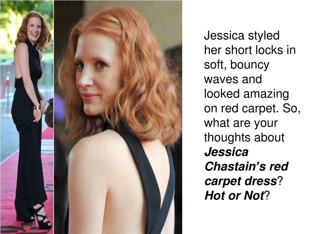 Jessica styled her short locks in soft, bouncy waves and looked amazing on red carpet. So, what are your thoughts about