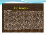 dlf bangalore
