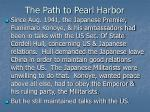 the path to pearl harbor