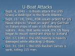 u boat attacks