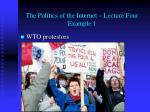 the politics of the internet lecture four example 1
