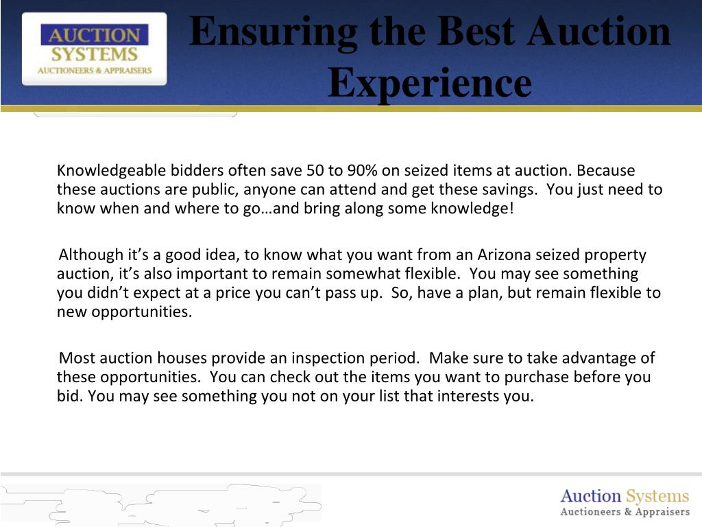 Ensuring the Best Auction Experience