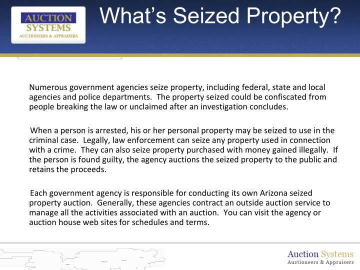 What s seized property