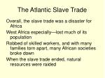 the atlantic slave trade33