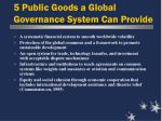 5 public goods a global governance system can provide