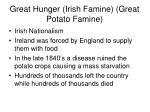 great hunger irish famine great potato famine