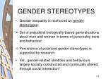 gender stereotypes