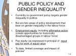 public policy and gender inequality