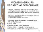 women s groups organizing for change