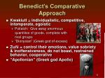 benedict s comparative approach