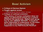 boas activism