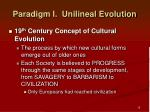 paradigm i unilineal evolution