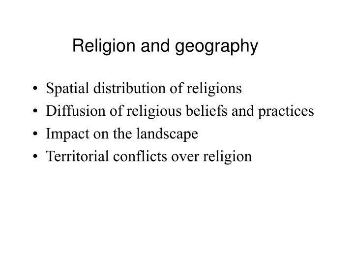Religion and geography