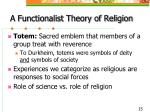 a functionalist theory of religion15
