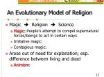 an evolutionary model of religion
