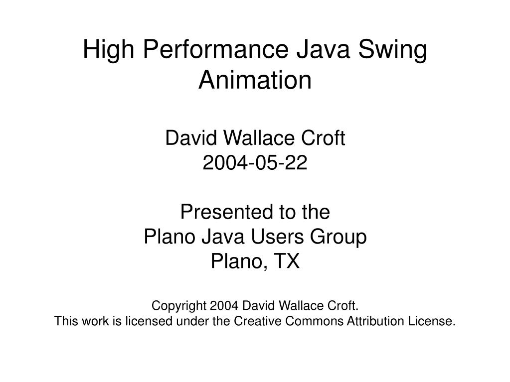 high performance java swing animation l.