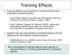training effects