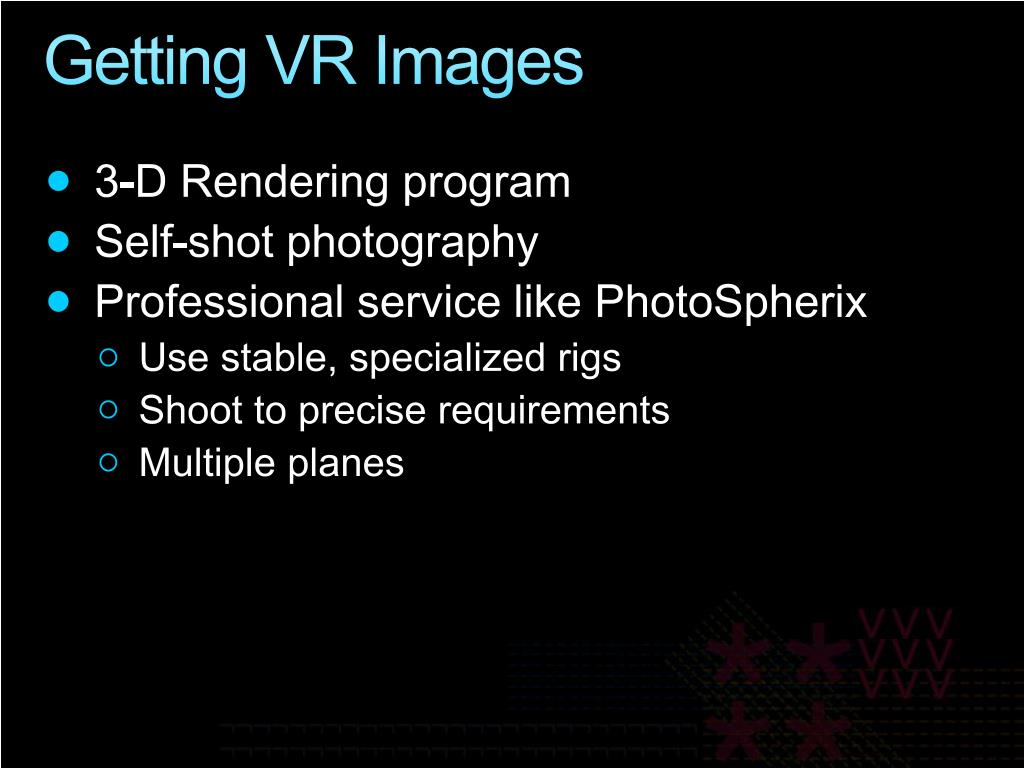 Getting VR Images