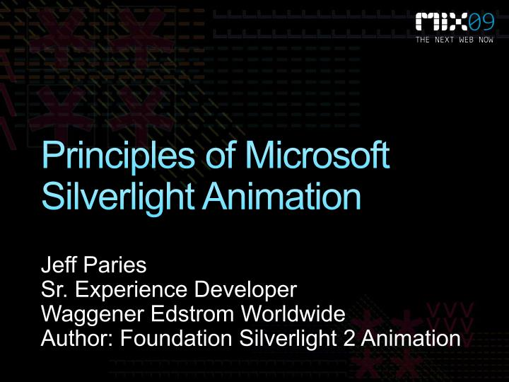 Principles of microsoft silverlight animation