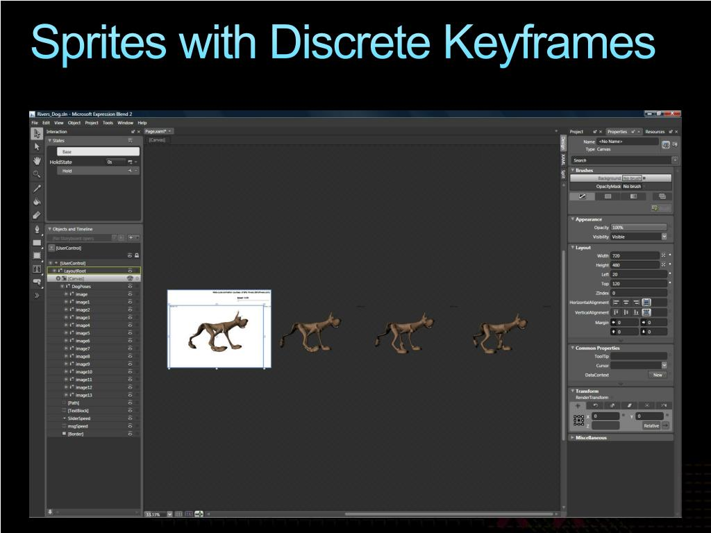 Sprites with Discrete Keyframes