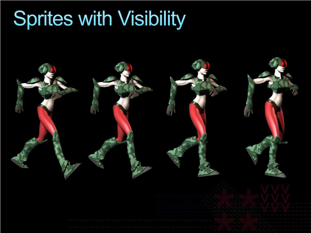 Sprites with Visibility