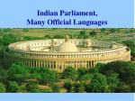 indian parliament many official languages