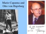 mario capanna and otto von hapsburg