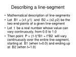 describing a line segment