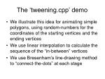 the tweening cpp demo