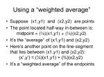 using a weighted average