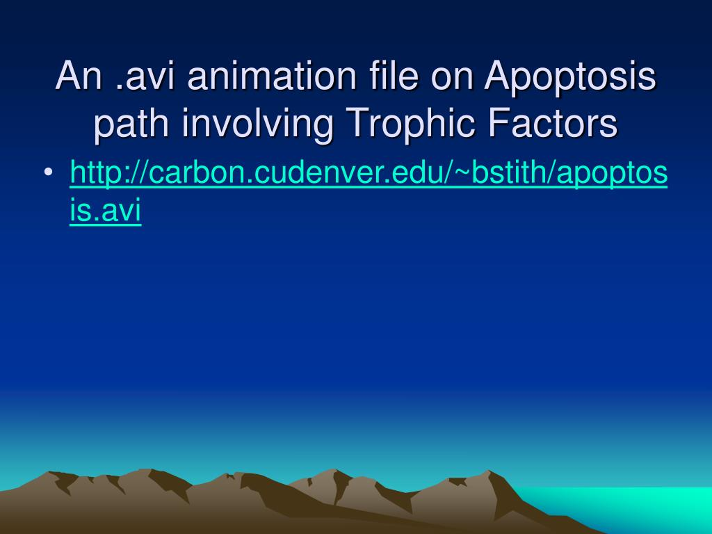An .avi animation file on Apoptosis path involving Trophic Factors