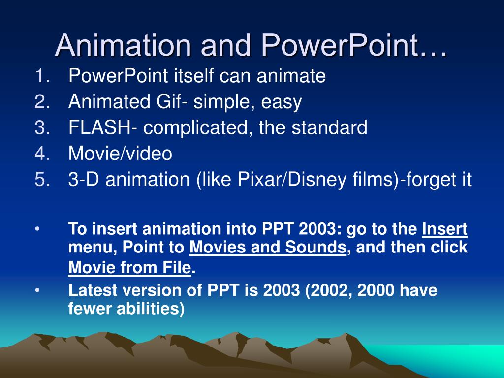 Animation and PowerPoint…
