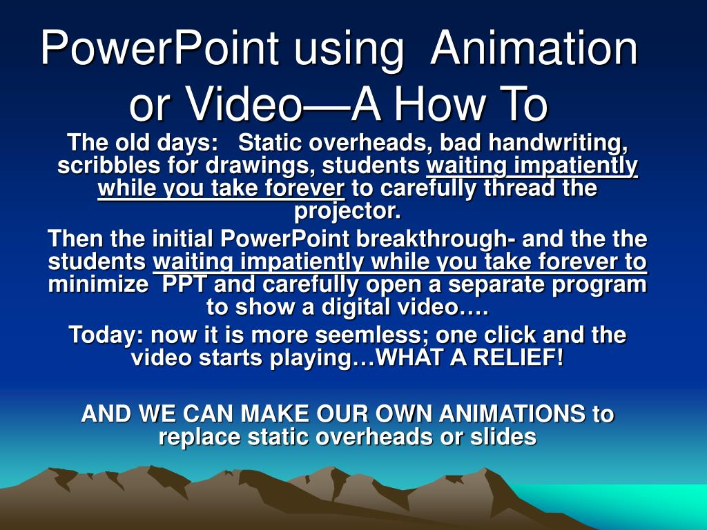 powerpoint using animation or video a how to l.