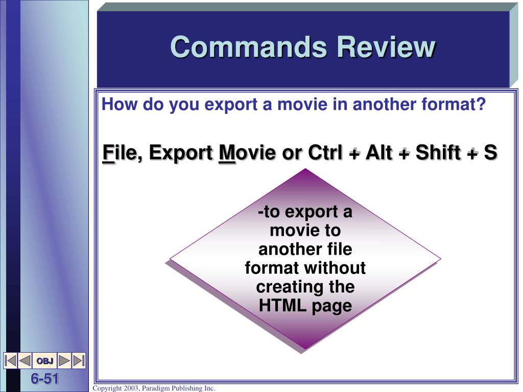 Commands Review