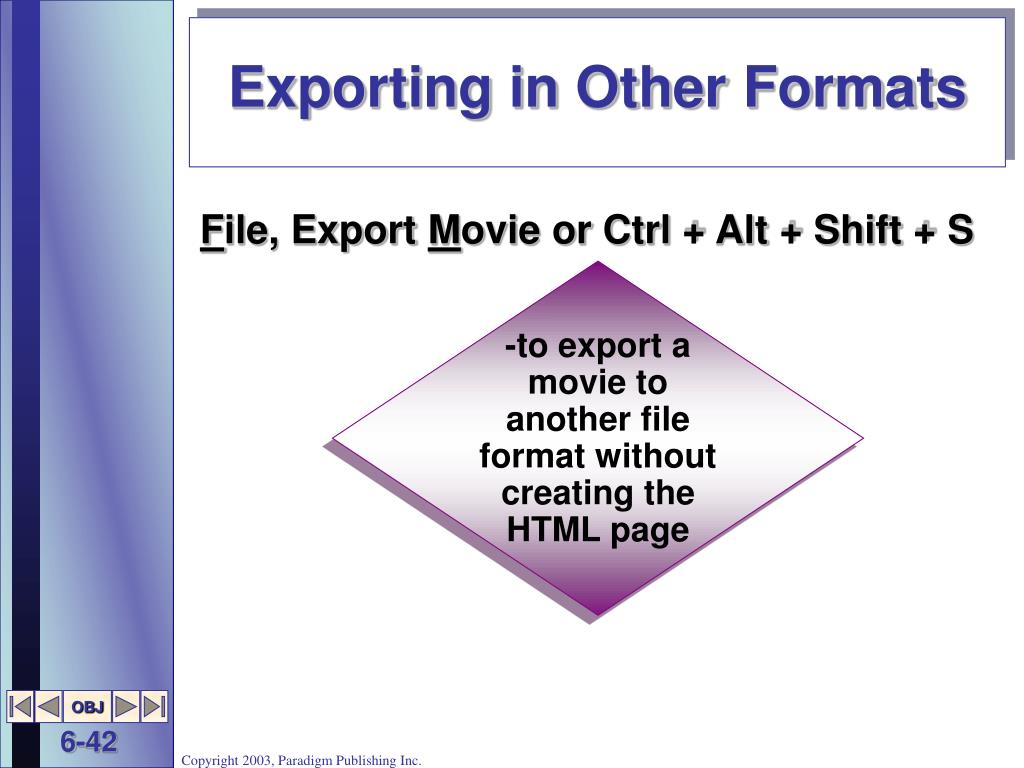 Exporting in Other Formats