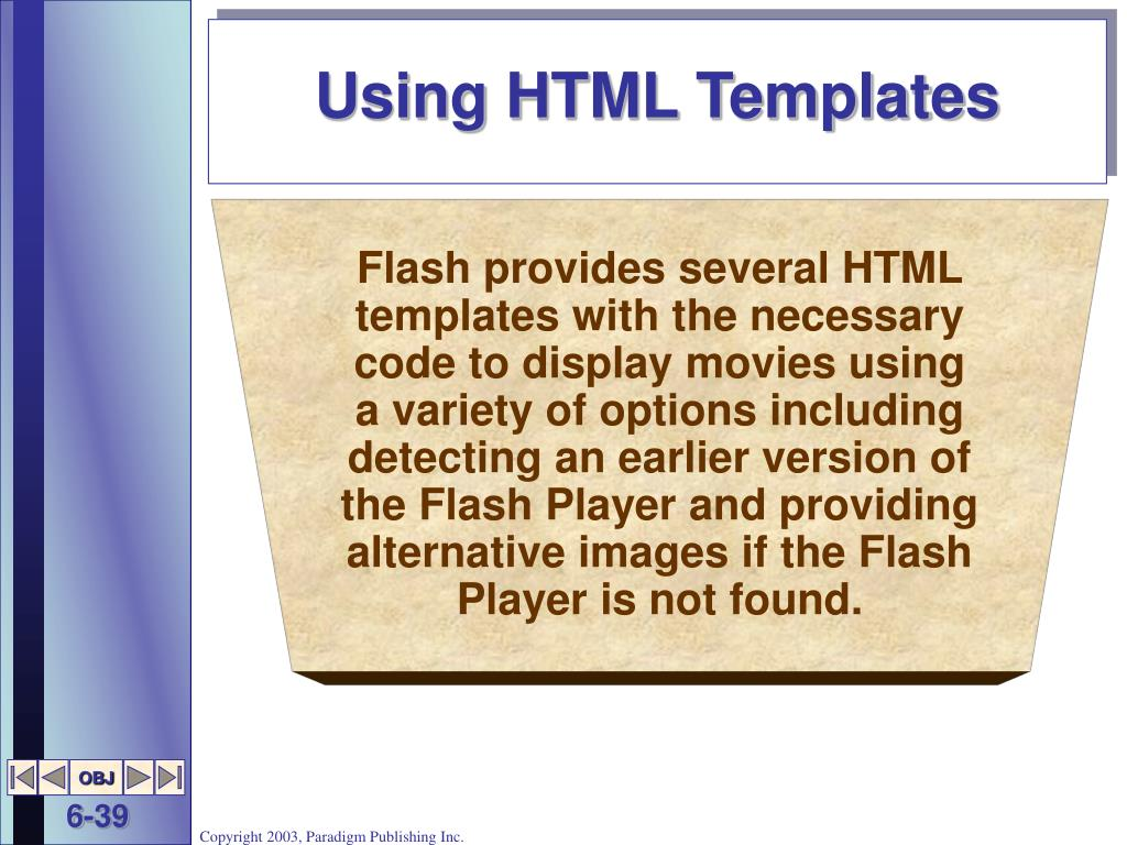 Using HTML Templates