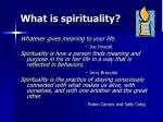 what is spirituality