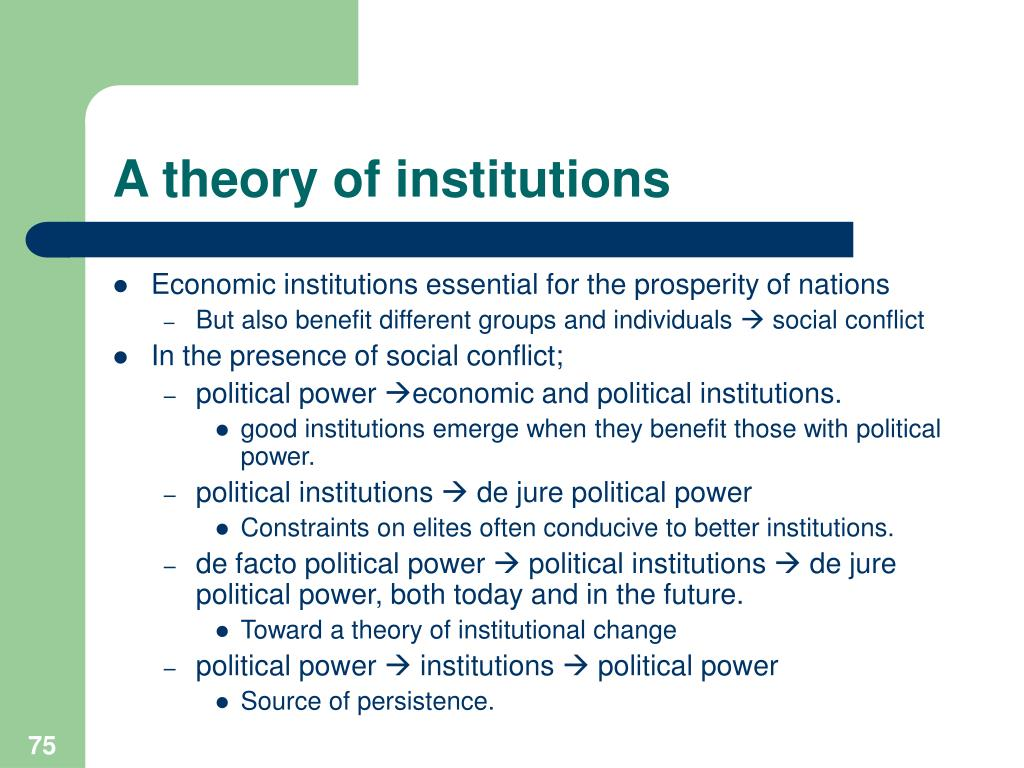 A theory of institutions