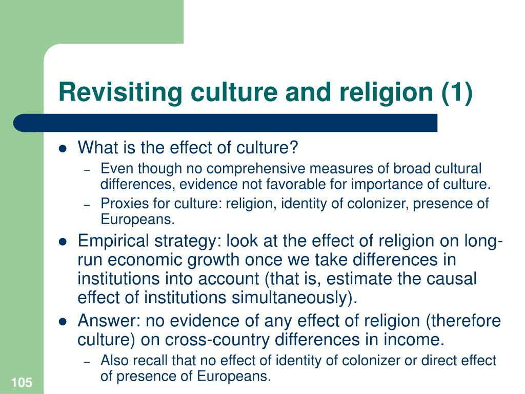 Revisiting culture and religion (1)