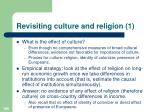 revisiting culture and religion 1
