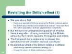revisiting the british effect 1